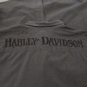 Harley-Davidson black collar button down 96576-12M